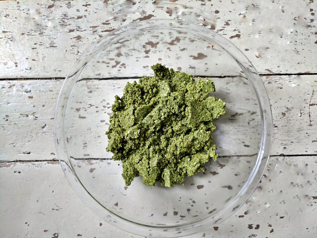 Matcha and Pistachio Balls, the mix once blitzed in the food prcocessor