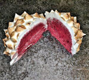 Baked Alaska using Aquafaba for the Meringue