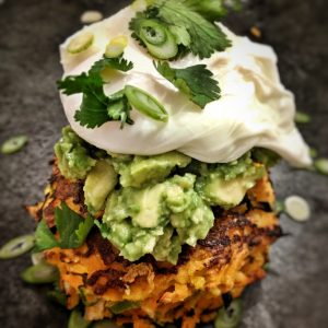 Sweet Potato and Leek Fritters
