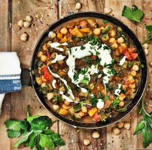 Red Pepper and Chickpea Tagine